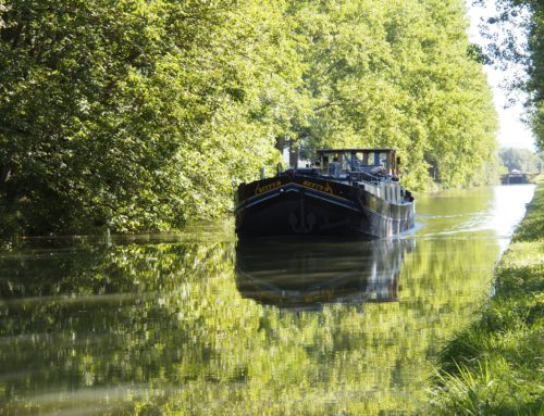 The Canal de Bourgogne, Burgundy, on the Betty B